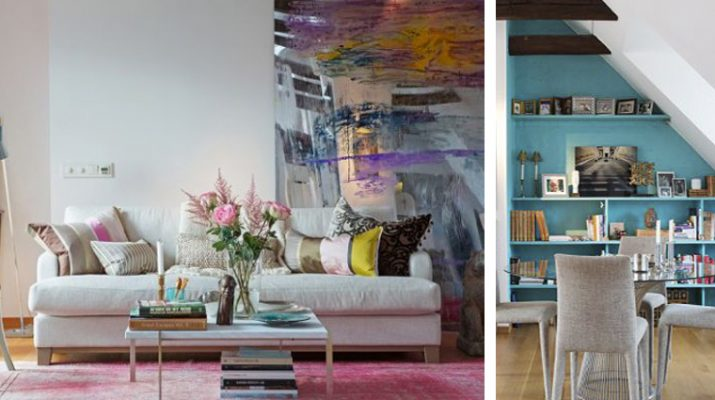 Chic attic apartment with a colorful interior Slider15 715x400