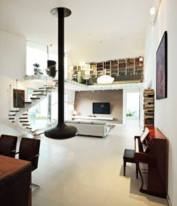 The House 04 project in Croatia by Helena Arbutina Fireplace1 258x300