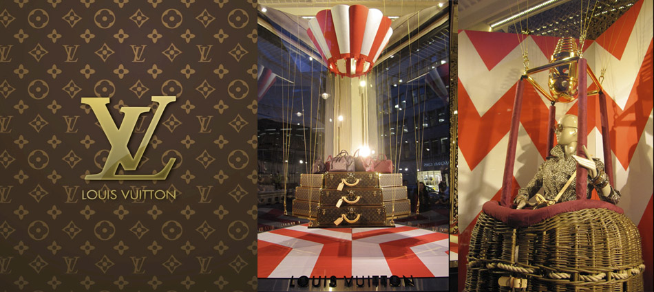 Louis Vuitton windows at Bond Street -  London