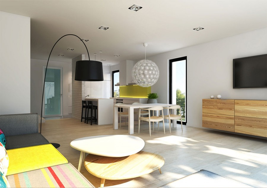 Modern residential interior: 6 color ideas for Interiors