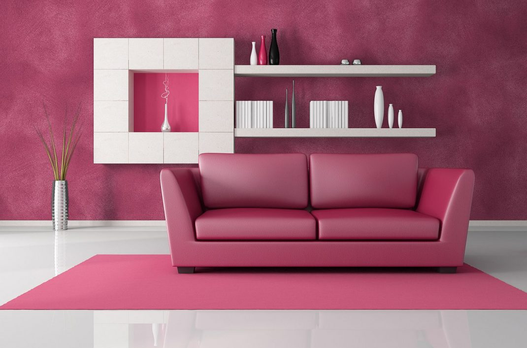 pink and black living room | best design projects