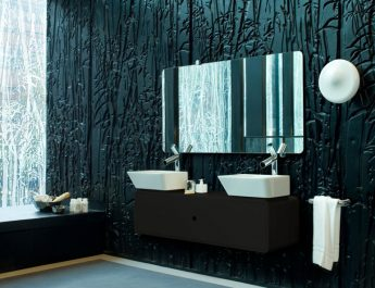 Explore vanity: 10 Black Bathroom ideas Black bathroom with the best paint color for bathroom walls 890x593 345x265