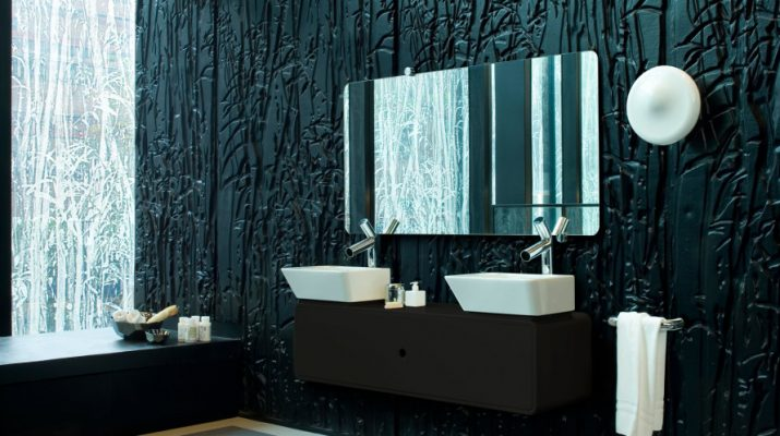 Explore vanity: 10 Black Bathroom ideas Black bathroom with the best paint color for bathroom walls 890x593 715x400