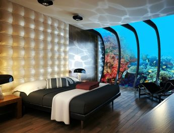 2014 HOTEL INTERIOR DESIGN TRENDS Dubai Underwater Hotel Rooms 345x265