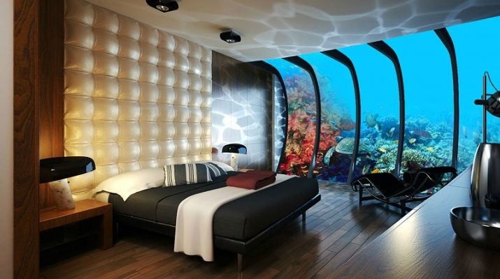2014 HOTEL INTERIOR DESIGN TRENDS Dubai Underwater Hotel Rooms 715x400