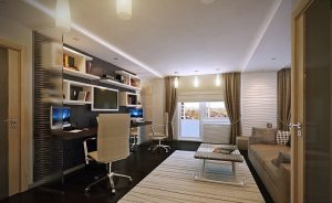 White-brown-home-office-design White brown home office design 300x184
