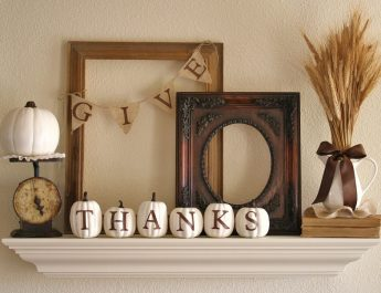 New Pinterest Board: Thanksgiving decor ideas bathroom decor thanksgiving window displays decoration idea with give thanks letter on a frame and white pumpkins craft for elegant nuance thanksgiving bath window decor ideas with creative and simple 345x265