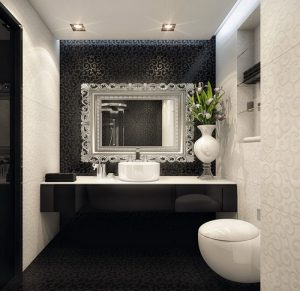 black-white-bathroom-design-by-Geometrix black white bathroom design by Geometrix 300x291