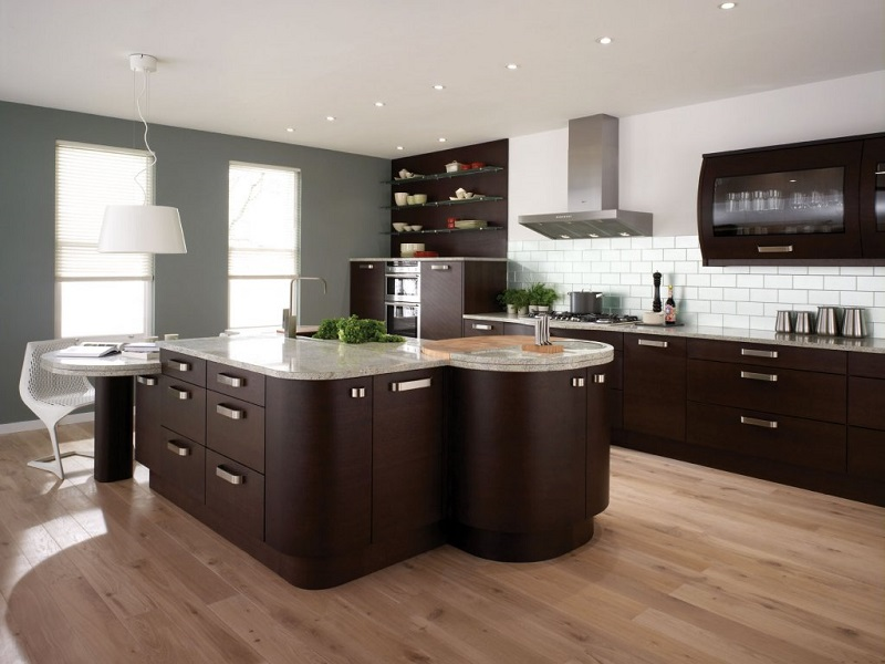 ideas-best-modern-kitchen-design-in-2013-with-furniture-made---of-dark-brown-wood-and-floor-in-the-kitchen-is-made-of-wood