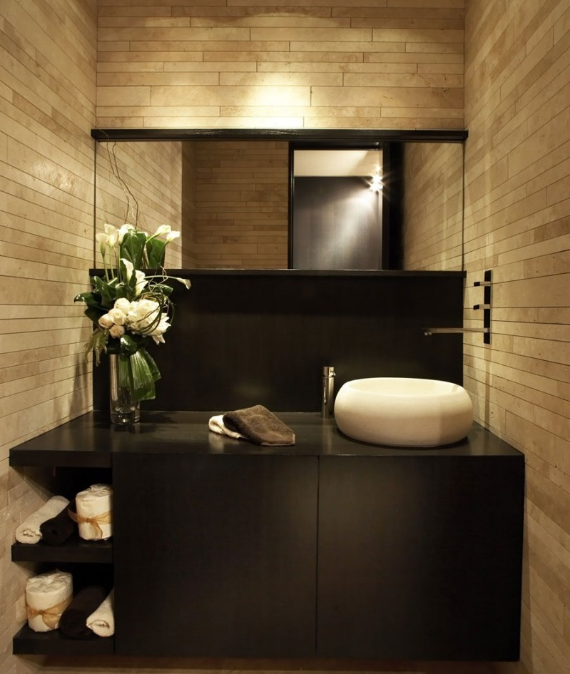 Black Luxury Bathrooms minimalist-black-bathroom-vanity-luxury-bathroom-decor | best