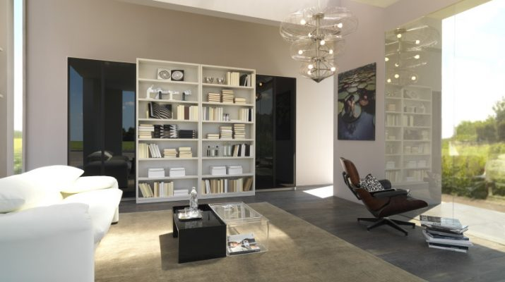 10 Brilliant Living Room Design Ideas to Stay With Family Awesome Bookshelves as a Canter Focus of Living Room 19 1 715x400