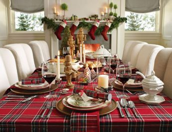 Interior Design Ideas for this Christmas excellent christmas dinner table decorations 345x265
