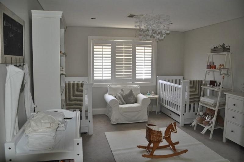Attractive White Decor Ideas For Twin Baby Rooms White Decor Ideas