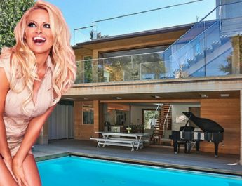 BEST CELEBRITY HOMES: PAMELA ANDERSON'S BEACH HOUSE IN MALIBU lead2 345x265