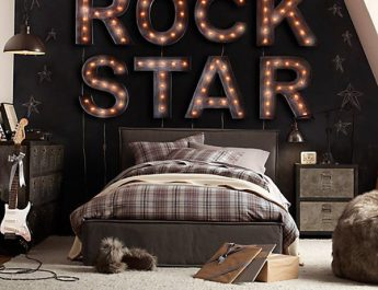 10 Amazing Themed Bedrooms with … Music 8 Rock Star 345x265