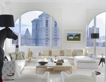 NYC PENTHOUSE WITH AN EXTRAVAGANT BRASS SLIDE penthouse nyc brass new york design agenda 2 345x265