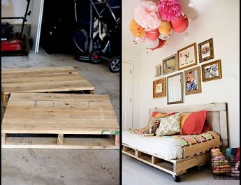 Unique and cheap furniture pieces for your home: Wood Pallets daybed pallet 345x265