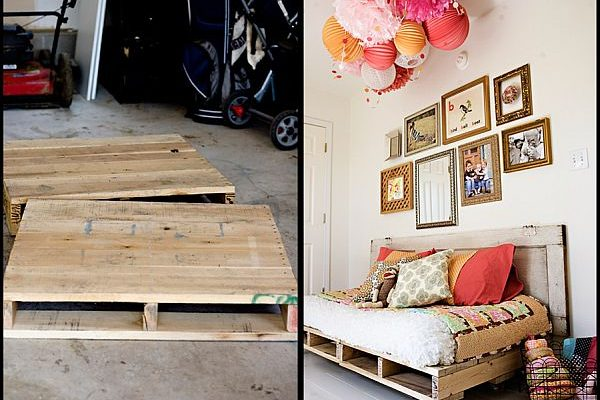 Unique and cheap furniture pieces for your home: Wood Pallets daybed pallet 600x400