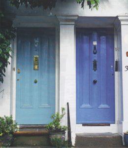 Blue & Green doors web  Blue & Green doors web Blue Green doors web 260x300