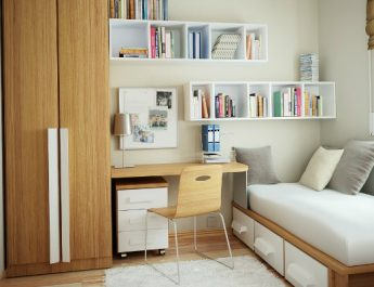 minimal-furniture-in-the-room2 small bedroom 5 Design Ideas to Make Your Small Bedroom Looks Larger minimal furniture in the room2 345x265