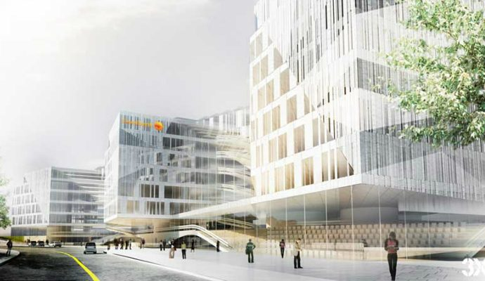 One of The Best Buildings Unveiled in 2014 swedbank headquarters l210211 1 690x400