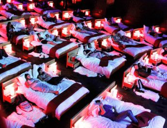Top 25 Design Cinemas Around the World  Top 25 Cinemas Design Around the World cinemas interior beds  880 345x265