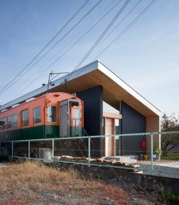 Incredible Home Built Around a Train Carriage  Incredible Home Built Around a Train Carriage Incredible Home Built Around a Train Carriage  262x300