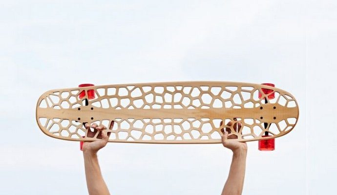 7th-Edition-of-Rio+Design-At-Fuori-Salone-2015-Technology-and-Sustainability-Voronoi-Skateboard-Organic