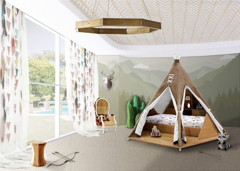 Feel The Magic Inside The Original Teepee Room By Circu ➤To see more Unique Design Projects visit us at http://www.bestdesignprojects.com #interiordesign #salonedelmobile #isaloni #bestdesignprojects