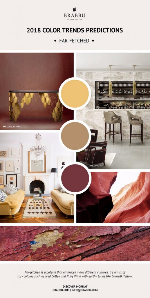Be Inspired By Pantone 2018 Color Trends For Your Next Design Project ➤ To see more news about the Best Design Projects in the world visit us at http://www.bestdesignprojects.com #homedecor #interiordesign #bestdesignprojects @bocadolobo @delightfulll @brabbu @essentialhomeeu @circudesign @mvalentinabath @luxxu @covethouse_
