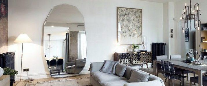 amazing parisian modern interior design project by studio 10surdix. Black Bedroom Furniture Sets. Home Design Ideas