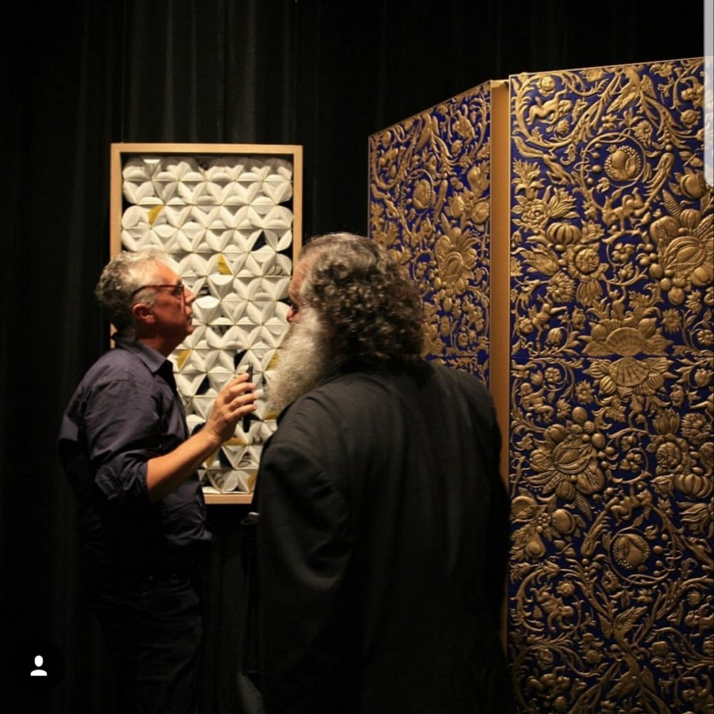 Sebastiaan van Soest Creates A Gilded Leather Folding Screen  Gilded Leather Folding Screen Sebastiaan van Soest Creates A Gilded Leather Folding Screen Sebastiaan van Soest Creates A Gilded Leather Folding Screen 3
