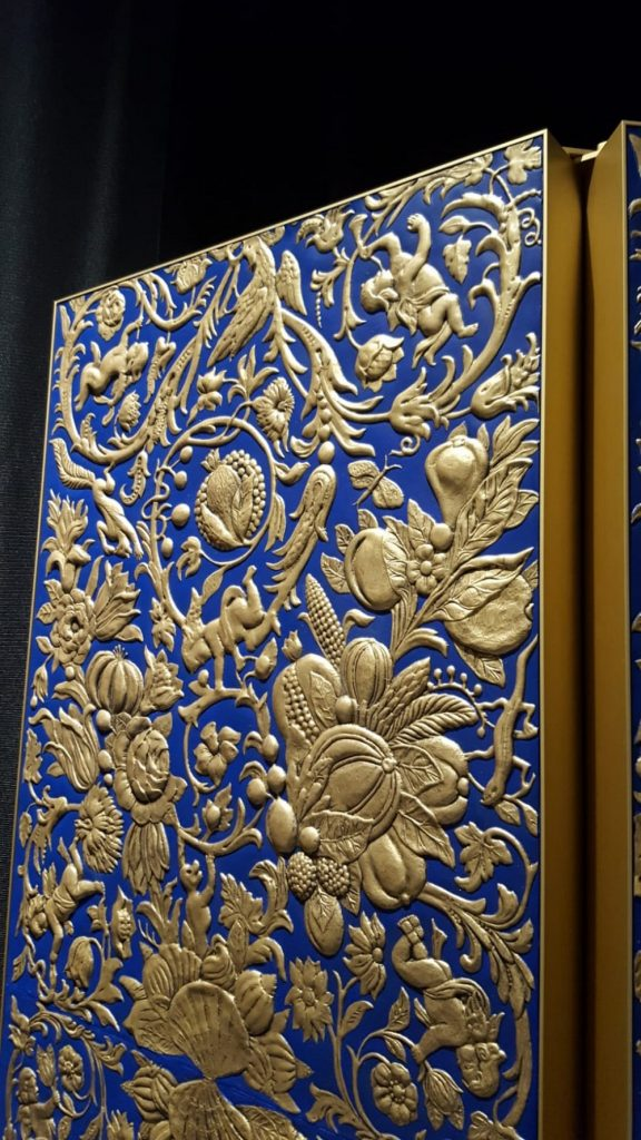 Sebastiaan van Soest Creates A Gilded Leather Folding Screen  Gilded Leather Folding Screen Sebastiaan van Soest Creates A Gilded Leather Folding Screen Sebastiaan van Soest Creates A Gilded Leather Folding Screen